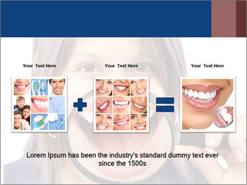 Beautiful young woman teeth PowerPoint Template - Slide 22