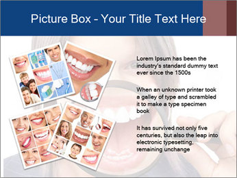 Beautiful young woman teeth PowerPoint Template - Slide 23