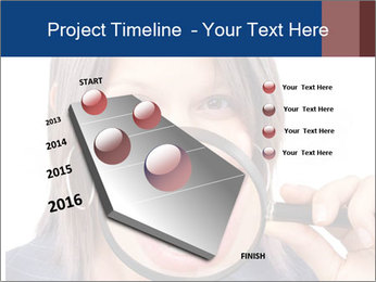 Beautiful young woman teeth PowerPoint Template - Slide 26