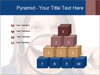 Beautiful young woman teeth PowerPoint Template - Slide 31