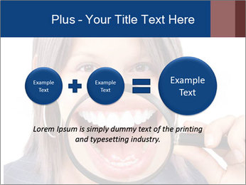 Beautiful young woman teeth PowerPoint Template - Slide 75