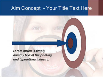 Beautiful young woman teeth PowerPoint Template - Slide 83