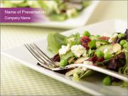 Fresh organic salad PowerPoint Template