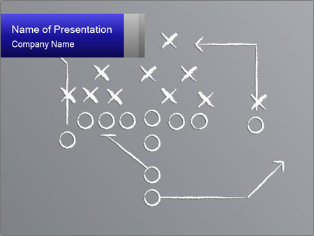 Chalk drawn football play PowerPoint Templates