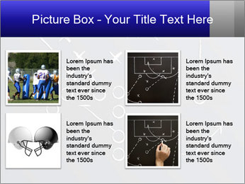 Chalk drawn football play PowerPoint Template - Slide 14