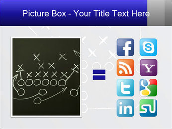 Chalk drawn football play PowerPoint Templates - Slide 21