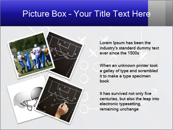 Chalk drawn football play PowerPoint Template - Slide 23