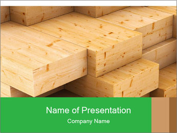 Wood timber PowerPoint Template - Slide 1