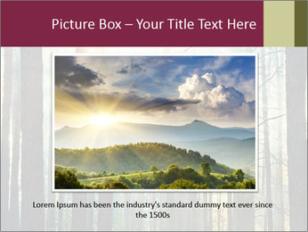 Sunset in the woods PowerPoint Template - Slide 16