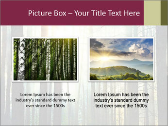 Sunset in the woods PowerPoint Template - Slide 18