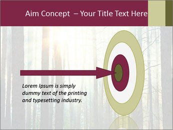 Sunset in the woods PowerPoint Template - Slide 83