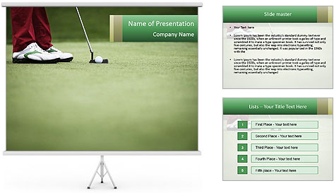Feet of female golf player PowerPoint Template