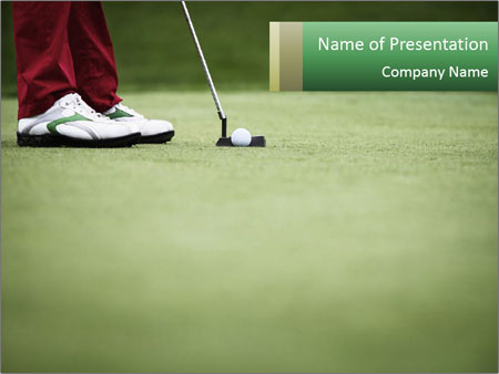 Feet of female golf player PowerPoint Templates