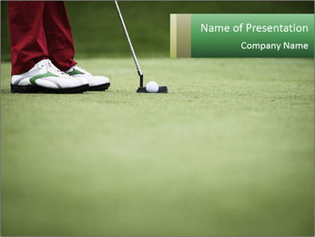 Feet of female golf player PowerPoint Template - Slide 1