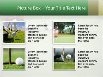 Feet of female golf player PowerPoint Templates - Slide 14
