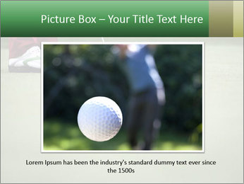 Feet of female golf player PowerPoint Template - Slide 15