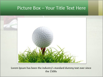 Feet of female golf player PowerPoint Template - Slide 16