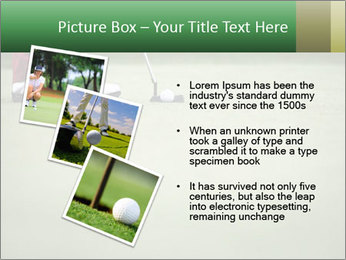 Feet of female golf player PowerPoint Templates - Slide 17