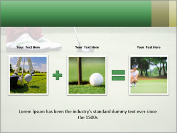 Feet of female golf player PowerPoint Templates - Slide 22