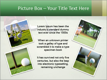 Feet of female golf player PowerPoint Templates - Slide 24
