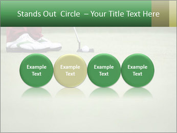 Feet of female golf player PowerPoint Templates - Slide 76
