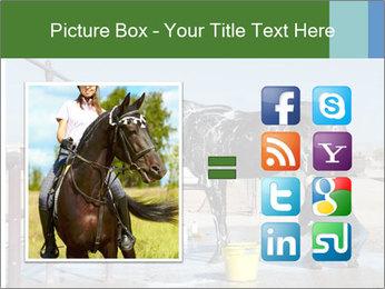 Horse getting a bath PowerPoint Templates - Slide 21