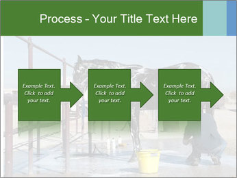Horse getting a bath PowerPoint Template - Slide 88