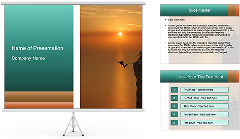 Rope jumping PowerPoint Template