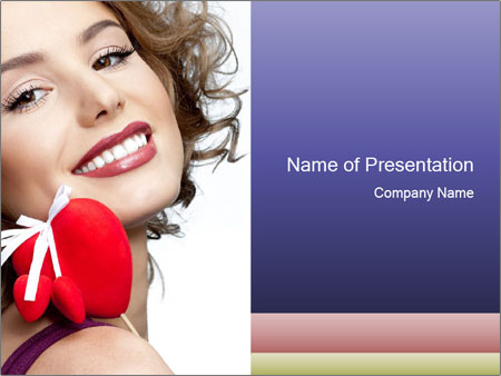 Attractive smiling woman PowerPoint Templates