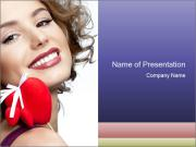 Attractive smiling woman PowerPoint Template