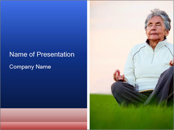 Elder woman PowerPoint Template