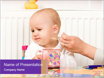 Feeding procedure PowerPoint Template
