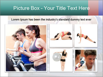 Healthy couple running on a treadmill PowerPoint Template - Slide 19