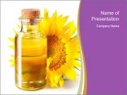 Bottle of sunflower PowerPoint Templates