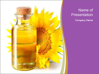 Bottle of sunflower PowerPoint Template - Slide 1