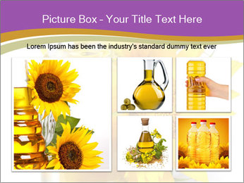 Bottle of sunflower PowerPoint Template - Slide 19