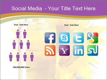 Bottle of sunflower PowerPoint Template - Slide 5