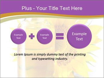 Bottle of sunflower PowerPoint Template - Slide 75
