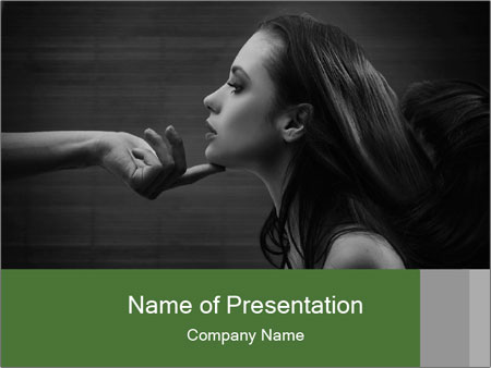 Submissiveness PowerPoint Template