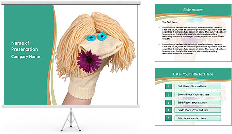 Funny sock puppet PowerPoint Template
