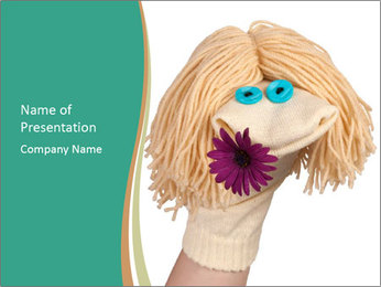 Funny sock puppet PowerPoint Template - Slide 1