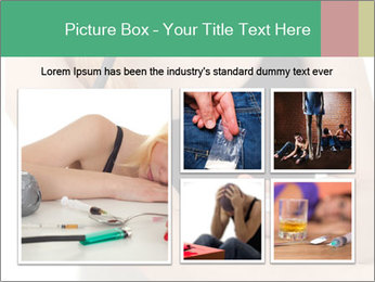 Drug addict young woman PowerPoint Template - Slide 19