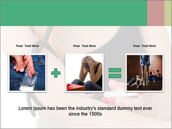 Drug addict young woman PowerPoint Template - Slide 22