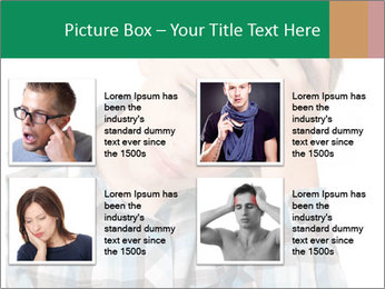 Portrait of a sad boy PowerPoint Template - Slide 14