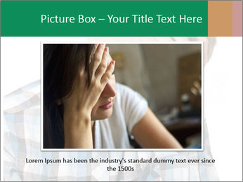 Portrait of a sad boy PowerPoint Template - Slide 15