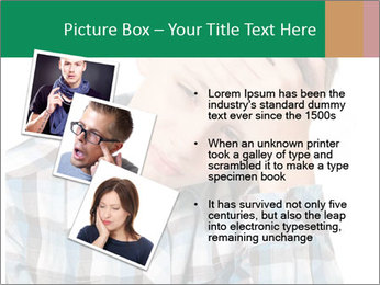 Portrait of a sad boy PowerPoint Template - Slide 17