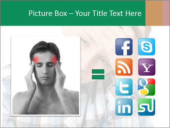 Portrait of a sad boy PowerPoint Template - Slide 21