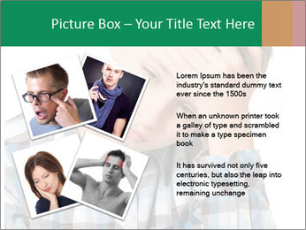 Portrait of a sad boy PowerPoint Template - Slide 23