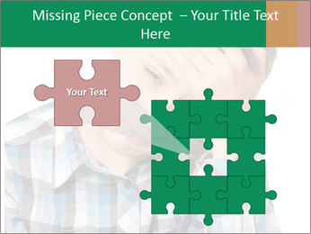 Portrait of a sad boy PowerPoint Template - Slide 45