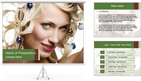 Fashion shot of a blond girl PowerPoint Template